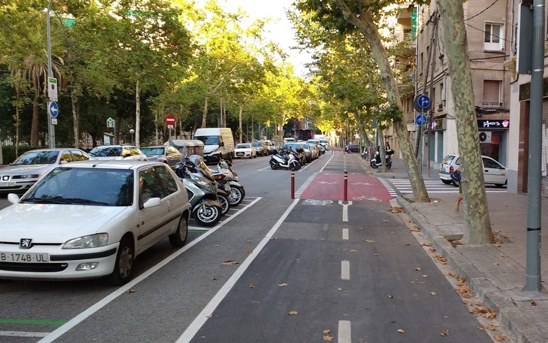 Ciclovías y estacionamiento